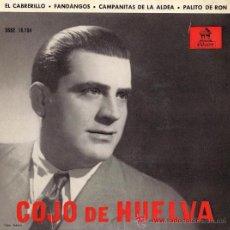 Discos de vinilo: EL COJO DE HUELVA - 1958. Lote 27769082