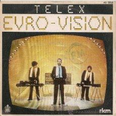 Discos de vinilo: EUROVISION 1980 TELEX - EURO-VISION (SINGLE ESPAÑOL). Lote 27773690