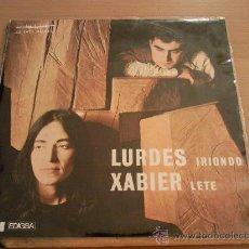 Discos de vinilo: LURDES IRIONDO XABIER LETE EP 1969 (EDIGSA- HERRI GOGOA). Lote 54294158