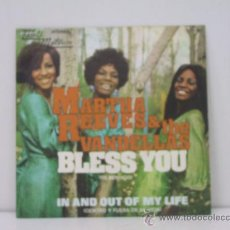 Discos de vinilo: MARTHA REEVES & THE VANDELLAS - BLESS YOU / IN AND OUT OF MY LIFE - EDICION ESPAÑOLA - MOTOWN 1972. Lote 32314762