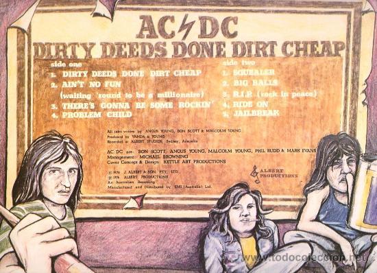 Discos de vinilo: AC/DC - DIRTY DEEDS DONE DIRT CHEAP ( LP VINILO ) REEDICION - Foto 2 - 224390517