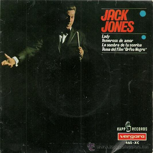 JACK JONES EP SELLO VERGARA AÑO 1967 (Música - Discos de Vinilo - EPs - Pop - Rock Extranjero de los 70)