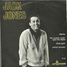 Discos de vinilo: JACK JONES EP SELLO VERGARA AÑO 1965. Lote 27824424
