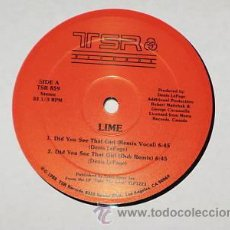 Discos de vinilo: LIME DID YOU SEE THAT GIRL 12 MAXI. Lote 27825146
