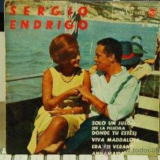 Discos de vinilo: SERGIO ENDRIGO DISCO MUY RARO Y DIFICIL DE CONSEGUIR. Lote 27835124