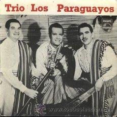 Discos de vinilo: TRÍO LOS PARAGUAYOS: EP 421 400 BE DE PHILIPS (1958). Lote 27842227