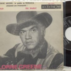 Discos de vinilo: SINGLE 45 RPM / LORNE GREENE EN FRANCES (BONANZA) RINGO // EDITADO POR RCA. Lote 27844685