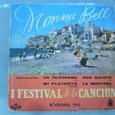 Discos de vinilo: MONNA BELL EP. Lote 27856316