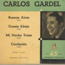 Discos de vinilo: CARLOS GARDEL,BUENOS AIRES. Lote 27863612