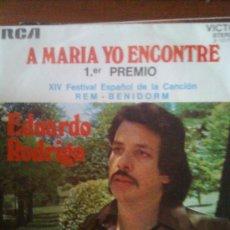 Discos de vinilo: EDUARDO RODRIGO - A MARÍA YO ENCONTRÉ (RCA,1972).JUAN PARDO,TERESA RABAL,JOSE VELEZ,MANOLITO EL GAFE. Lote 27872728