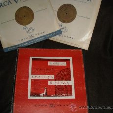 Discos de vinilo: CAVALLERIA RUSTICANA CAJA D LP RCA.BRUNA..GIGLI..MASCAGNI..BECHI..SCALA..MILAN. Lote 27876454