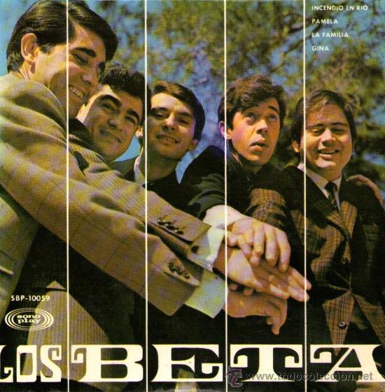 """LOS BETA - EP-SINGLE VINILO 7"""" - EDITADO EN ESPAÑA - INCENDIO EN RIO + 3 - SONOPLAY 1967 (Música - Discos de Vinilo - EPs - Grupos Españoles 50 y 60)"""