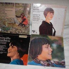 Discos de vinilo: MIREILLE MATHIEU-LOTE 4 EP`S FRANCESES. Lote 27885062
