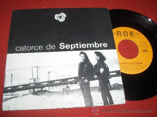 """CATORCE DE SEPTIEMBRE UNA LUZ EN EL PORTAL 7"""" SINGLE DOBLE CARA 1991 RDK (Música - Discos - Singles Vinilo - Grupos Españoles de los 90 a la actualidad)"""