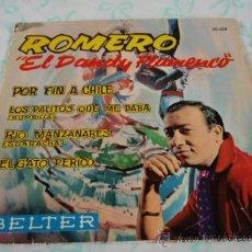 Discos de vinilo: ROMERO 'EL DANDY FLAMENCO' ACOMPAÑADO A LA GUITARRA POR PAQUITO SIMON Y RAFAEL LOPEZ EP45 BELTER. Lote 27897099