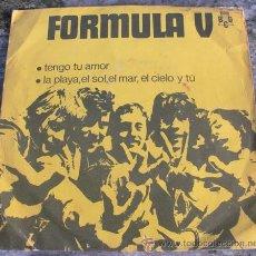 Discos de vinilo: FORMULA V - TENGO TU AMOR - SINGLE PROMO 1970. Lote 27901134