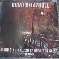 Disques de vinyle: DIONI VELAZQUEZ - OTOÑO SIN FINAL - SINGLE 1979. Lote 27902629