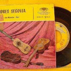 Discos de vinilo: ANDRÉS SEGOVIA : FANDANGO (RODRIGO); PRELUDIO Y ALLEGRO (DE MURCIA); ...1962. Lote 27912586