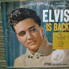 Discos de vinilo: ELVIS PRESLEY-ELVIS IS BACK LP - ORIGINAL U.S.A. - RCA 1960 LONG PLAY ON LABEL CON STICKER MONO. Lote 27916805
