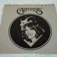 Discos de vinilo: CARPENTERS ( ONLY YESTERDAY - HAPPY ) USA - 1975 SINGLE45 A&M RECORDS. Lote 27923772