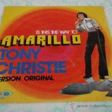 Discos de vinilo: TONY CHRISTIE ( AMARILLO - LOVE IS FRIEND OF MINE ) VINILO COLOR AMARILLO 1972-ESPAÑA SINGLE45. Lote 27924258