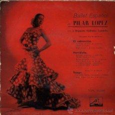 Discos de vinilo: PILAR LÓPEZ - EL CABRERILLO. Lote 27924602
