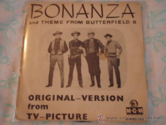 Discos de vinilo: BONANZA + THEME FROM BITTERFIELD 8 DAVID ROSE and HIS ORCHESTRA SINGLE45 SWEDEN MGM - Foto 2 - 27937588