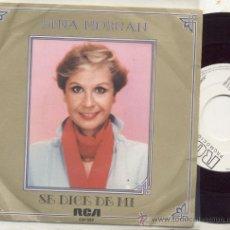 Discos de vinilo: SINGLE PROMO 45 RPM / LINA MORGAN / LA RUMBA DEL X 2 // EDITADO POR RCA. Lote 27945230
