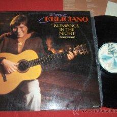 Discos de vinilo: JOSE FELICIANO ROMACE IN THE NIGHT LP 1983 MOTOWN LP + HOJA PROMO. Lote 27953751