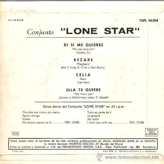 Discos de vinilo: EP LONE STAR : DIME SI ME QUIERE (Tambien incluye version española de She Loves you - Beatles ) - Foto 2 - 27961845