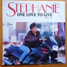 Discos de vinilo: STEPHANIE - ONE LOVE TO GIVE MAXI SINGLE. Lote 27974495