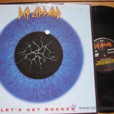 Discos de vinilo: DEF LEPPARD `LET´S GET ROCKED` MAXI. Lote 27854937