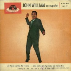 Discos de vinilo: JOHN WILLIANS CANTA EN ESPAÑOL EP SELLO POLYDOR AÑO 1961 EDITADO EN ESPAÑA. Lote 28007164