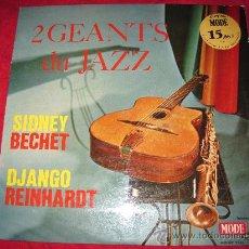 Discos de vinilo: LP-SIDNEY BECHET/DJANGO REINHARDT-MODE 9103-FRANCE- JAZZ. Lote 28013555
