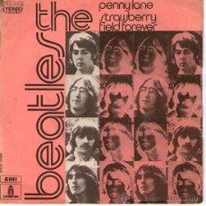 Discos de vinilo: THE BEATLES - SINGLE VINILO 7 - PENNY LANE + STRAWBERRY FIELD FOREVER - EDITADO EN FRANCIA, AÑO 1973. Lote 28016627