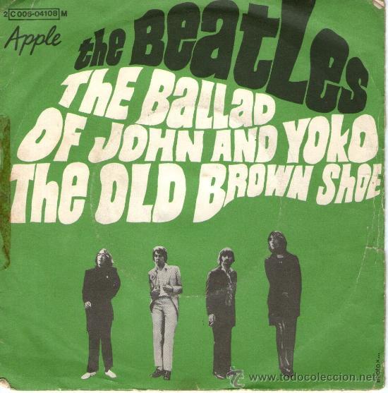 THE BEATLES - SINGLE VINILO 7 - THE BALLAD OF JOHN AND YOKO + 1 - EDITADO EN FRANCIA - AÑO 1973 (Música - Discos - Singles Vinilo - Pop - Rock Extranjero de los 50 y 60)