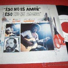Discos de vinilo: PABLO MILARES ESO NO ES AMOR/CUANTO GANE, CUANTO PERDI 7