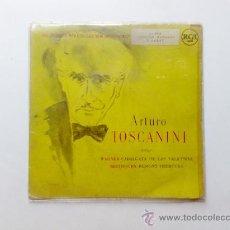 Discos de vinilo: ARTURO TOSCANINI, WAGNER, CABALGATA DE LAS VALKYRIAS, BETHOVEN, EGMONT OBERTURA, 45 RPM, ALTA FIDELI. Lote 28027256