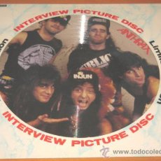 Discos de vinilo: ANTHRAX - INTERVIEW PICTURE DISC - LIMITED EDITION - LP - BAKTABAK USA BAK 2134 - N MINT. Lote 28022991