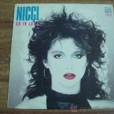 Discos de vinilo: NICCI SO IN LOVE.-MAXI SINGLE.-EDITA SERDISCO.-AÑO 1985.-. Lote 28033985