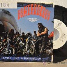 Disques de vinyle: BOMBARDEROS - FLYIN' LIKE A RAINBOW. Lote 28036712