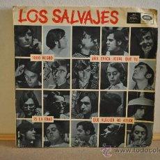 Discos de vinilo: LOS SALVAJES - TODO NEGRO. Lote 28037091