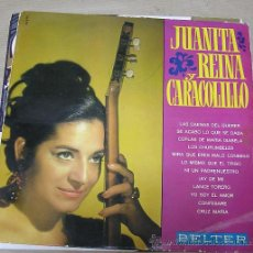 Discos de vinilo: JUANITA REINA Y CARACOLILLO. BELTER. Lote 295272273