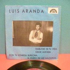 Discos de vinilo: LUÍS ARANDA CON LA ORQUESTA DE JOSÉ GEA. EP. BERTA 1969. MUY RARO. Lote 28059712