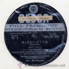 Discos de vinilo: RIGOLETTO (VERDI) - RENATO CIONI - MARIA FIORI (3 LPS DECCA 1962) MUESTRA. Lote 28061160
