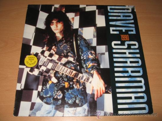 LP DAVE SHARMAN 1990 GUITAR VS. SATRIANI .NOISE 1990 GERMANY (Música - Discos - LP Vinilo - Heavy - Metal)