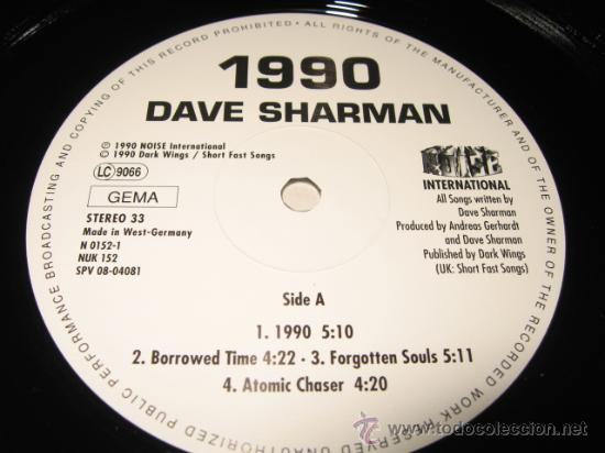 Discos de vinilo: LP DAVE SHARMAN 1990 Guitar VS. SATRIANI .NOISE 1990 GERMANY - Foto 3 - 28062164