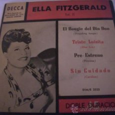 Discos de vinilo: ELLA FITZGERALD (DOBLE) - EL BOOGIE DEL DIN DON - TRISTE LUISITA - PRE ESTRENO Y OTRO - ARGENTINA. Lote 28063158