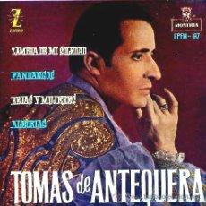 Discos de vinilo: TOMÁS DE ANTEQUERA - EP - 1961. Lote 28063267