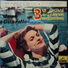 Discos de vinilo: JOSE GUARDIOLA, EDICION DE 1961 DE ESPAÑA, VINILO COLOR. Lote 28070964